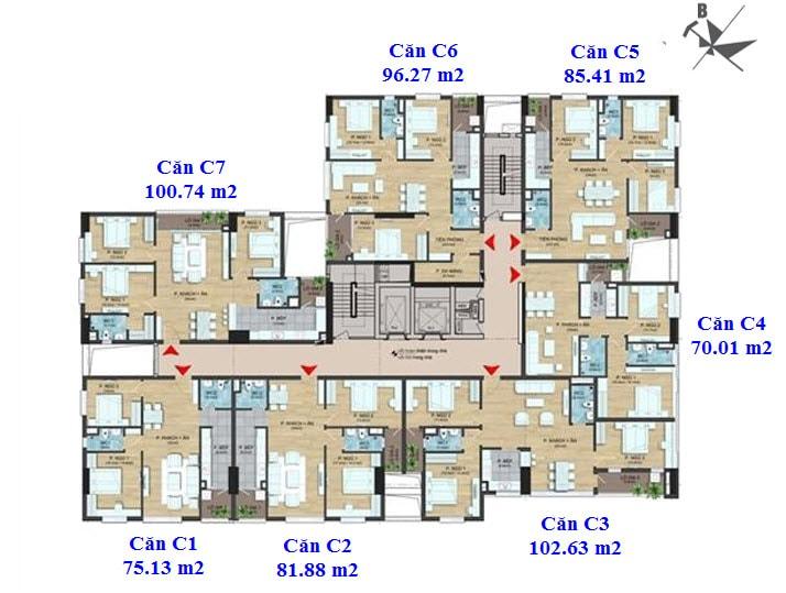 Mặt bằng chung cư dream center home 282 nguyễn huy tưởng