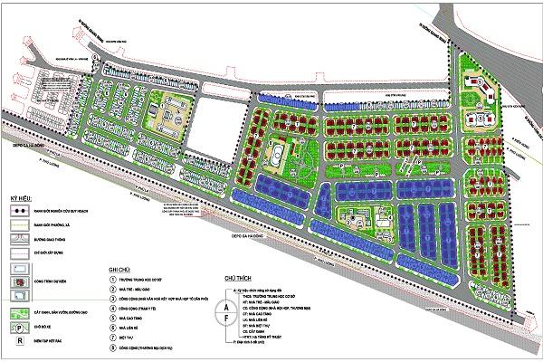 Tổng mặt bằng dự án khu đô thị Phú Lương