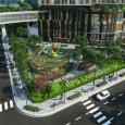 Phối cảnh sân vườn dự án hpc landmark 105