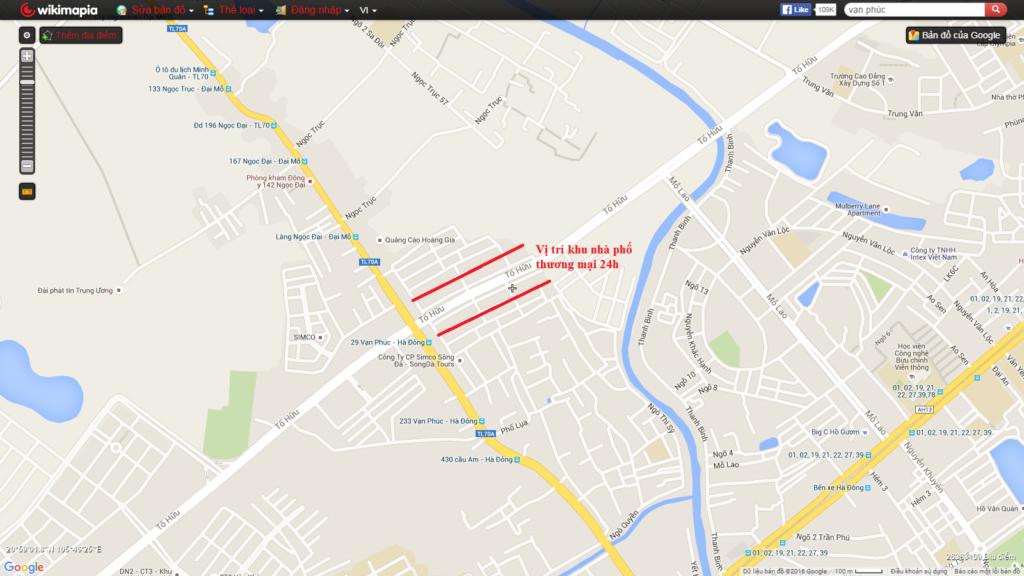 vị trí dự án nhà phố thương mại 24h