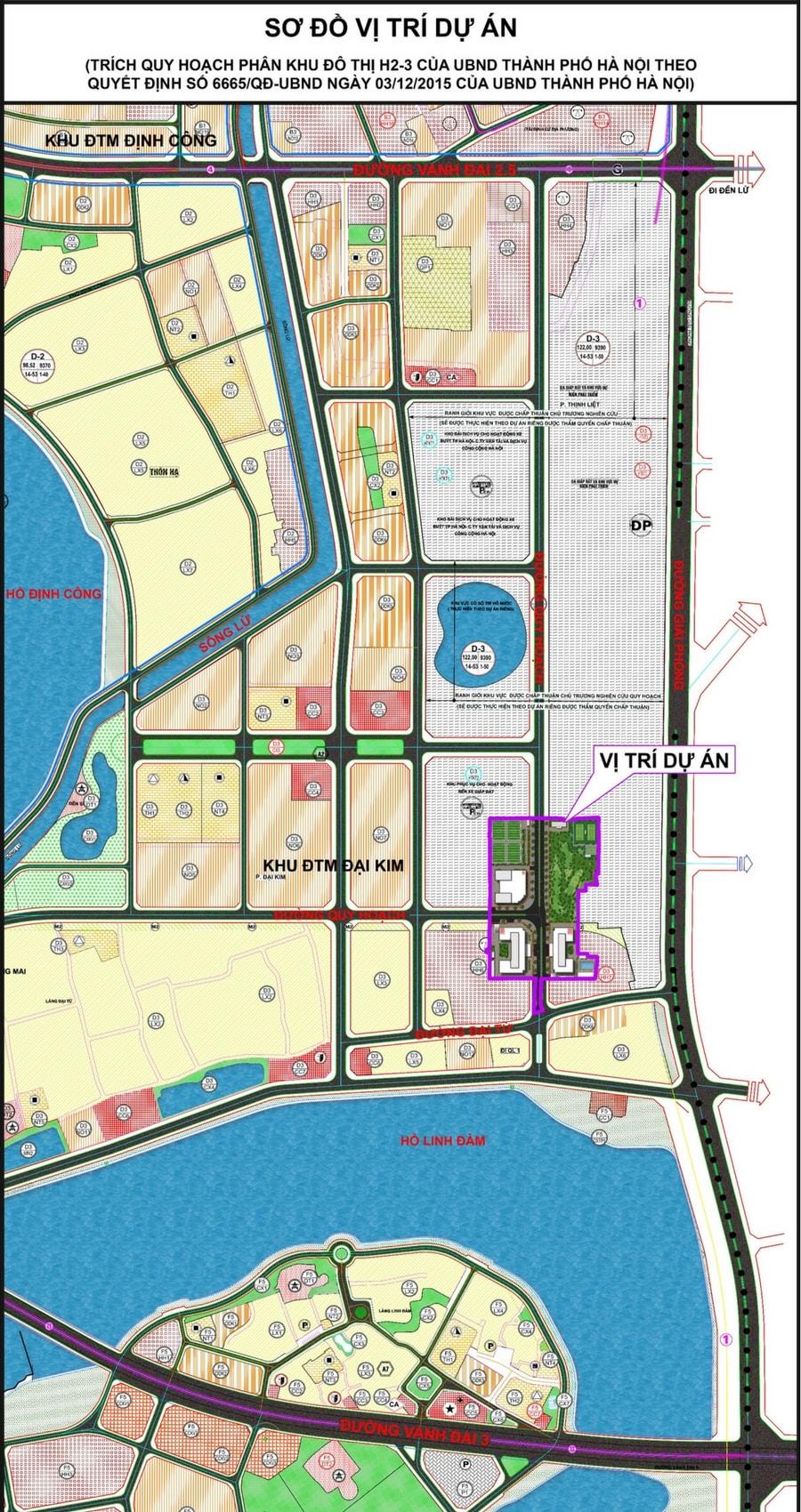 sơ đồ vị trí dự án chung cư eco lake view 32 đại từ hoàng mai