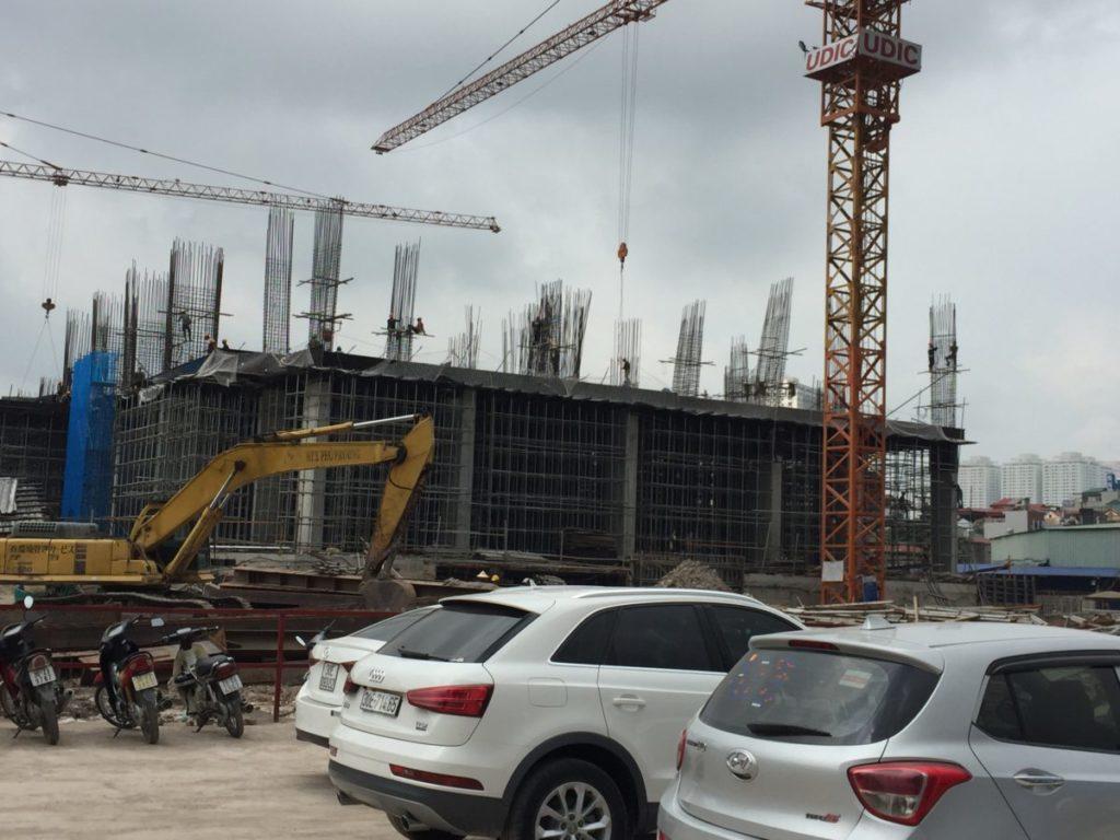 tiến độ xây dựng tòa hh2 eco lake view 32 đại từ