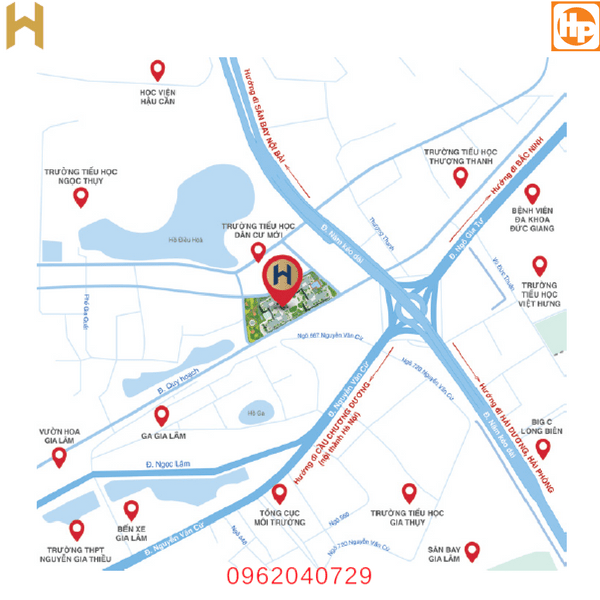 vị trí dự án Hà Nội HomeLand Long Biên
