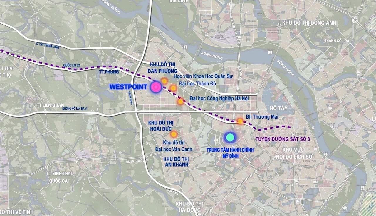 Vị trí dự án Nam 32 Westpoint