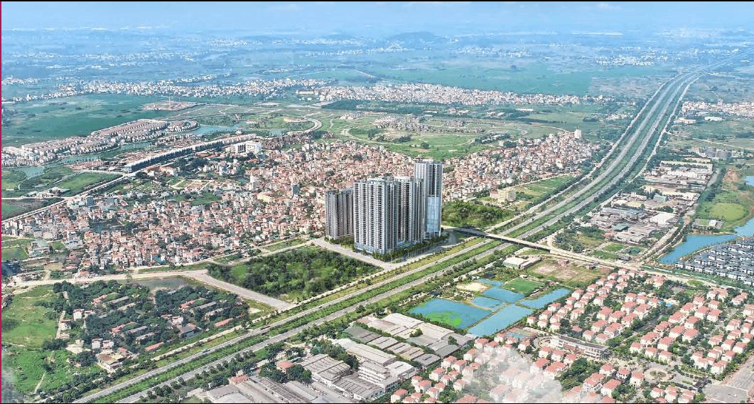 Phối cảnh tổng thể dự án T3 Thăng Long Victory - Thăng Long Capital