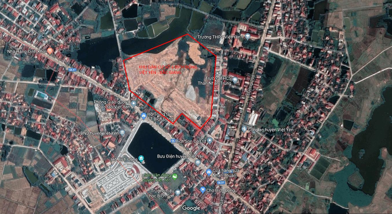 Vị trí khu dân cư số 4 Bích Động Việt Yên