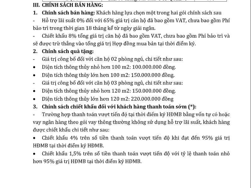 Chinh sach ban hang HPC 105